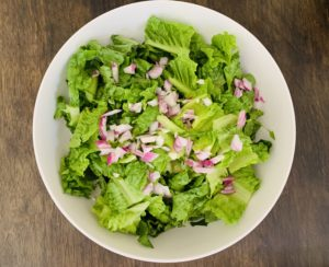 Romaine Lettuce with Onion