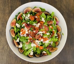 Fig Salad with Bacon