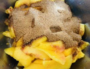 Peaches with Coconut Sugar and Lemon